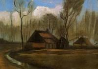 Van Gogh - Ferme au milieu des arbres