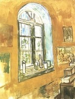 Van Gogh - Fenêtre de sa chambre à l'asile