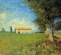 Van Gogh - Ferme et champ de blé