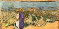 Van Gogh - Femmes traversant un champ