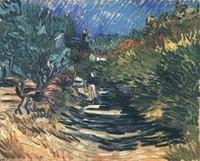 Van Gogh - Femme sur une route à Saint-Rémy