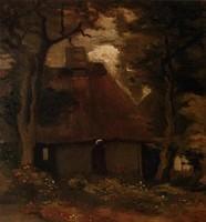 Van Gogh - Maison et paysanne sous les arbres