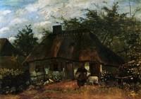 Van Gogh - Maison et femme avec chèvre
