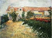 Van Gogh - Maison avec tournesols