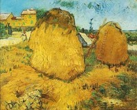 Van Gogh - Meules de foin en Provence