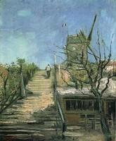 Van Gogh - Moulin à vent à Montmartre