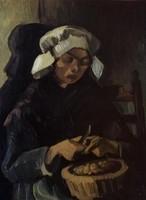 Van Gogh - Paysanne épluchant des pommes de terre