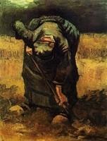 Van Gogh - Paysanne bêchant