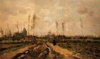 Van Gogh - Paysage avec église et fermes