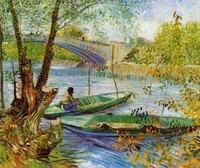 Van Gogh - Pêche au printemps près du pont de Clichy