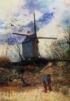 Van Gogh - Paysan près du Moulin de la Galette