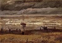 Van Gogh - Plage à Scheveningen par temps d'orage