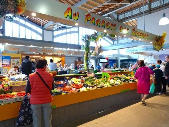 Cabourg, fruits et legumes aux Halles