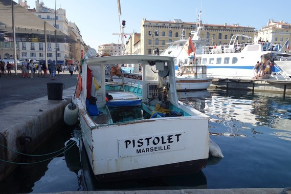 Marseille , le vieux port -
