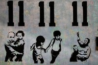 Banksy_Styled_Art_in_Miraflores,_Peru