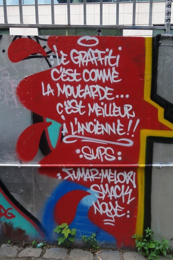graffiti moutarde ancienne