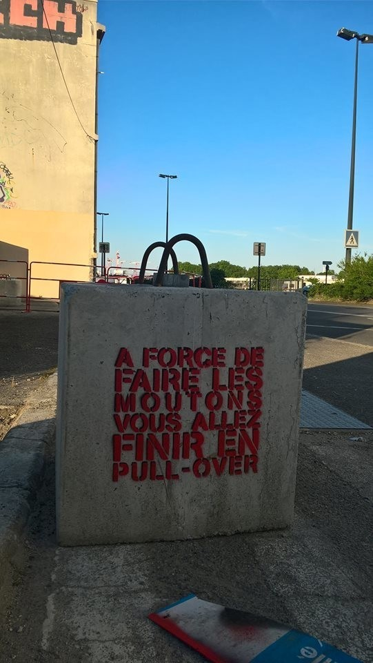 A Nantes, les moutons avec  Jinks Kunst