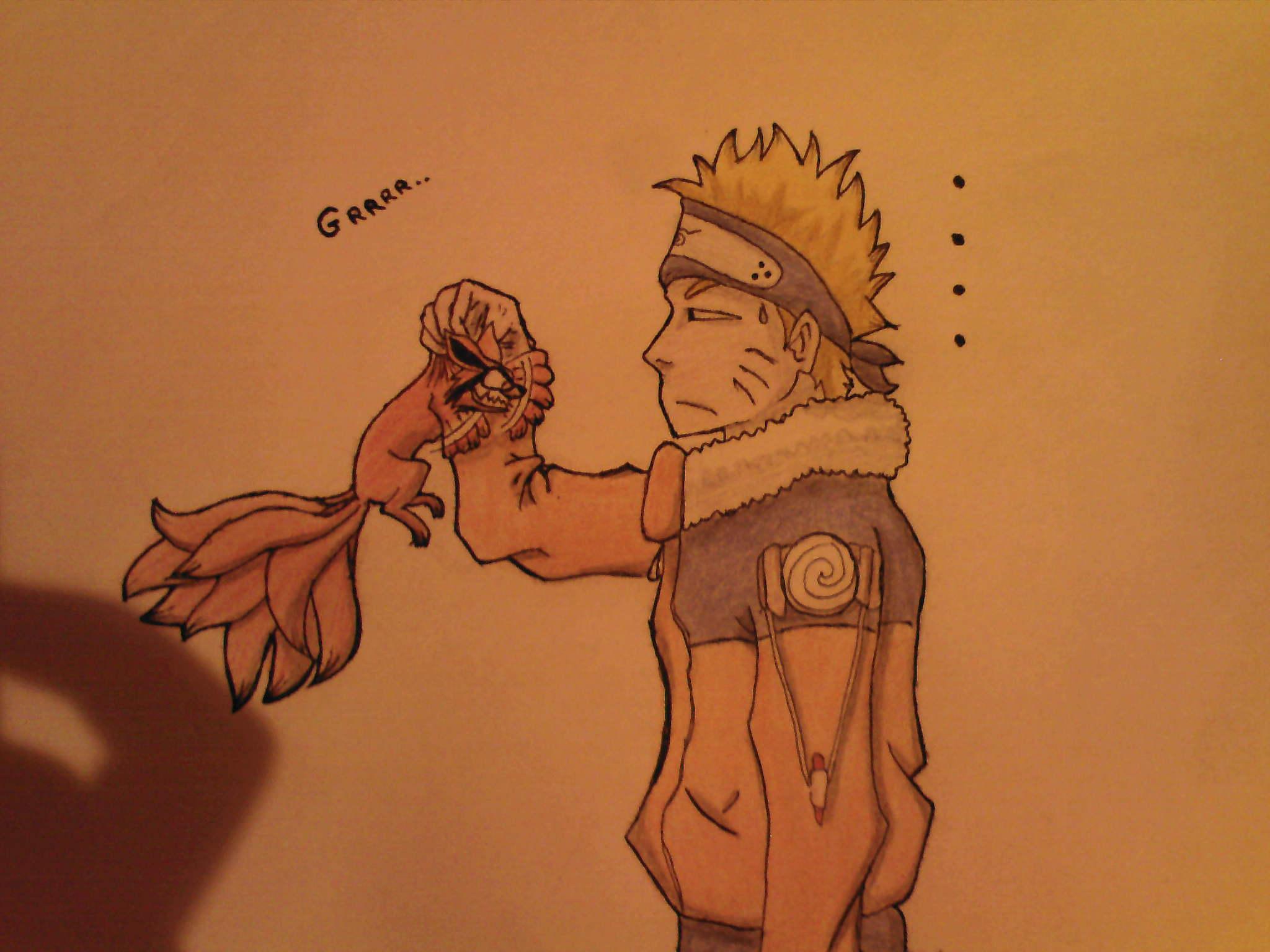 Dessin kyubi et naruto dessins manydemars13 photos - Naruto kyubi dessin ...