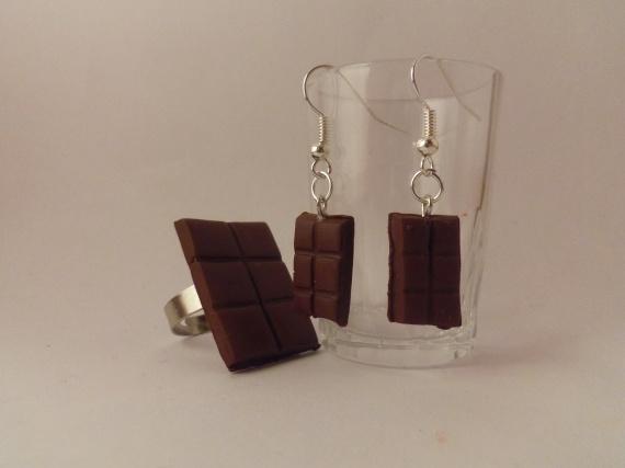 Parure tablette de chocolat