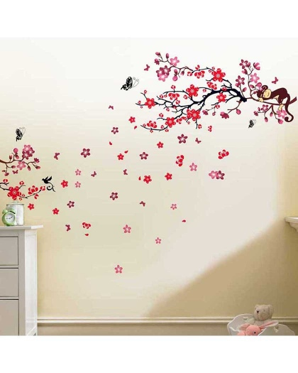 stickers-pink-monkey-with-blossom-flower (1)