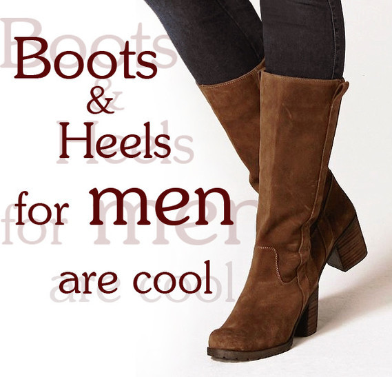 boots and heels for men