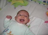 Maëla et ses 1ers sourires