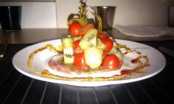 Salade de kiwis aux tomates cerises