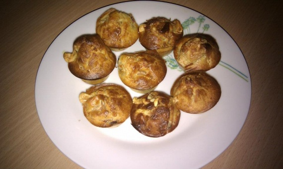 Muffins au bleu d'Auvergne & jambon