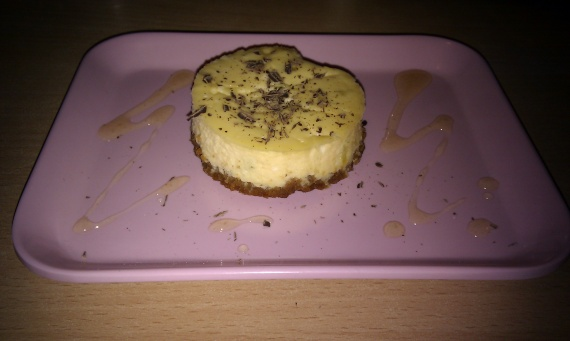 Cheesecake individuel citron vert/spéculos