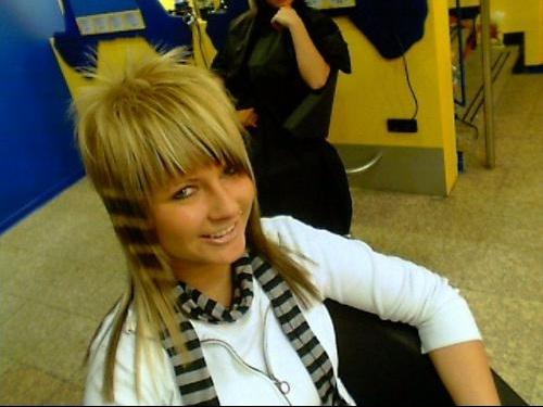 M che ray blonde platine sur base brune photo coiffure et coloration forum beaut - Photos meches blondes et noires ...