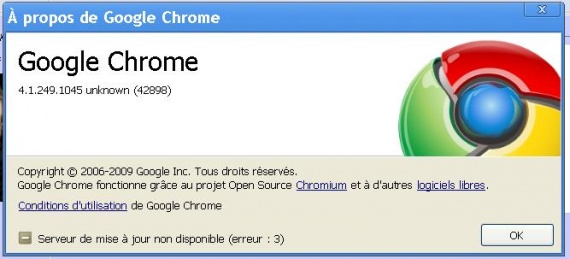 version chrome