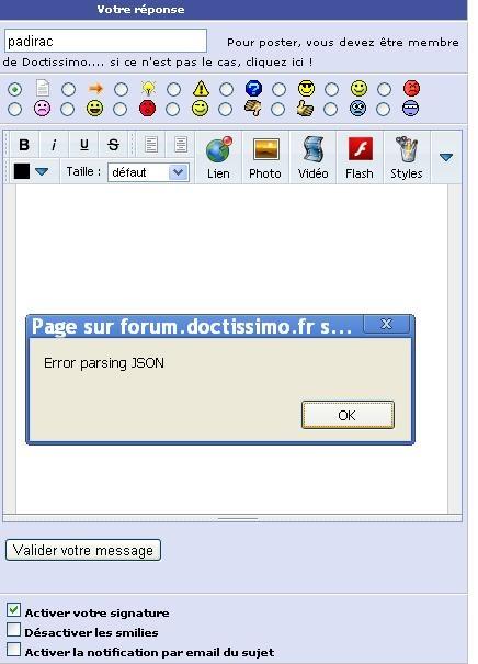 error parsing JSON