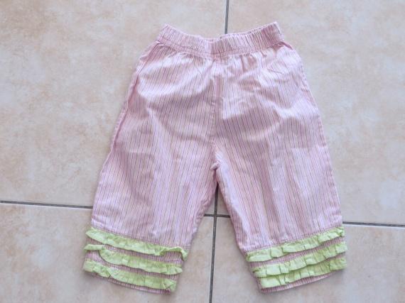 Pantalon rayé rose 0.50€