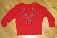 Tshirt rouge manche large 2€