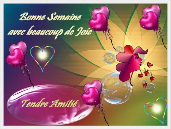 BONNE SEMAINE-TENDRE AMITIE