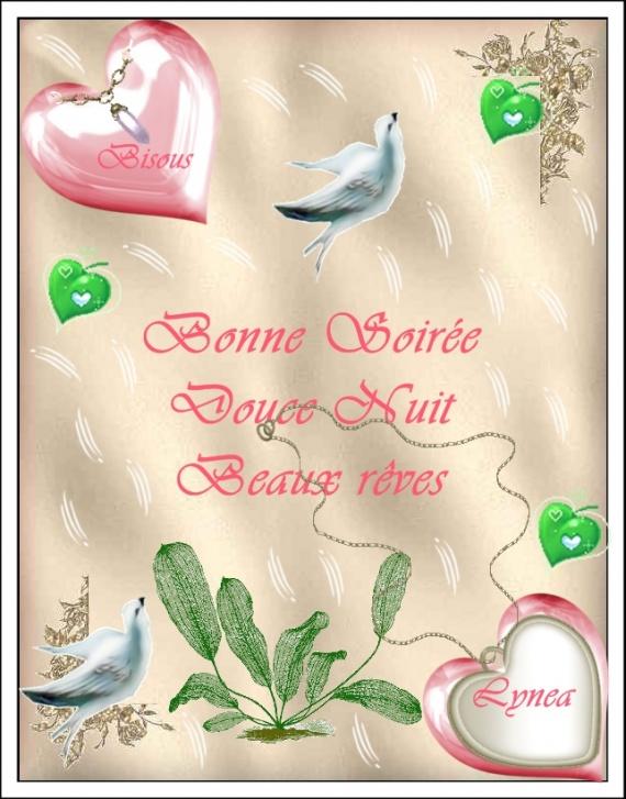 BONNE SOIREE DOUCE NUIT BEAUX REVES