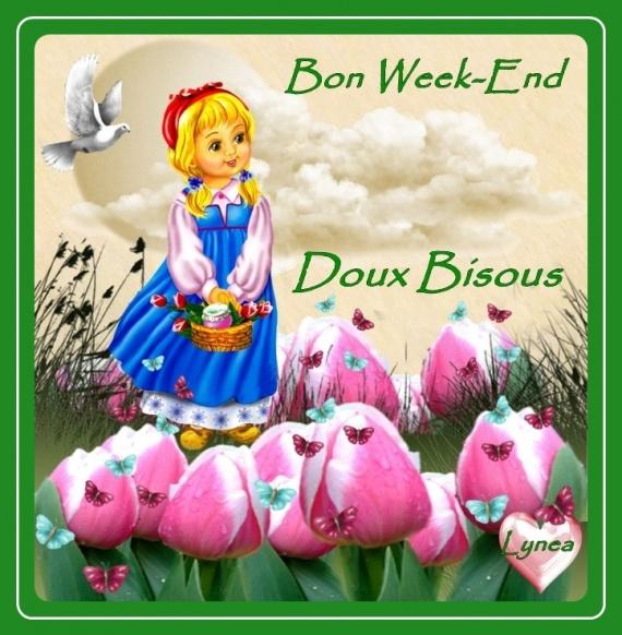 Bon Week End Doux Bisous Lynea Tulipes Bon Week End Lynea18