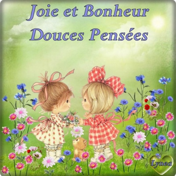 joie et bonheur fillettes douces pensées lynea