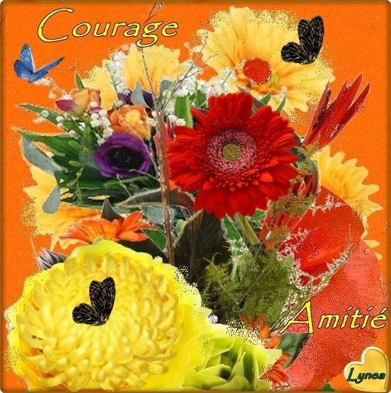 COURAGE TABLEAU DE FLEURS