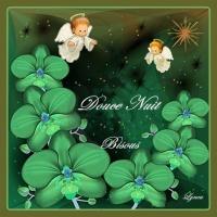 bonne nuit anges dans les fleurs lynea