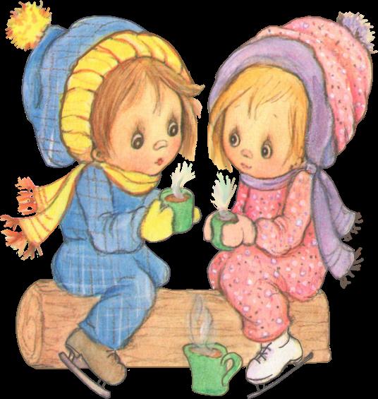 enfants au froid