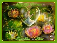 belle nuit enchantée-doux rêves-bisous Ange de lynea