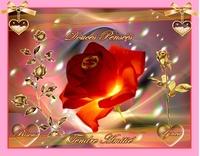 douces pensées-tendre amitié-bisous rose de lynea