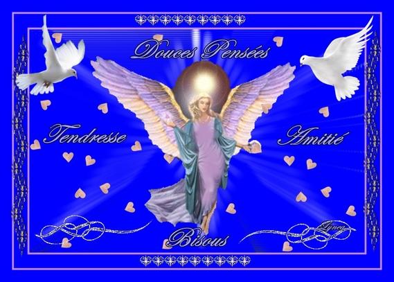 douces pensées-tendresse-bisous ange de lynea