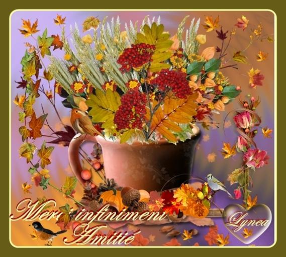merci infiniment-amitié tasse fleurs et oiseaux de lynea