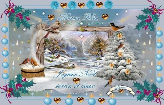joyeux noel serein et doux-douces fêtes de lyna