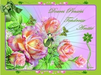 douces pensées-tendresse-amitié roses fée de lynea