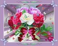 merci-amitié bisous fleurs de lynea