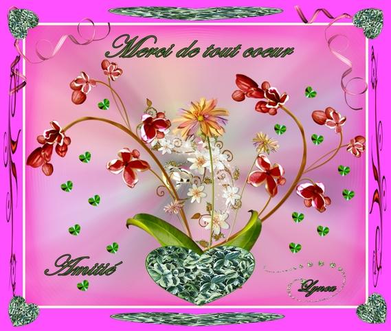 merci de tout coeur-amitié fleurs de lynea