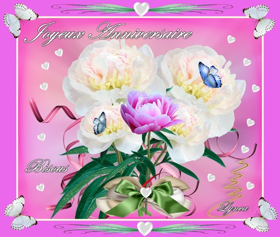Joyeux Anniversaire Bisous Fleurs Lynea Anniversaires Lynea18